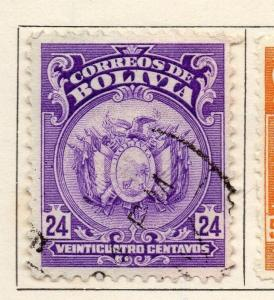 Bolivia 1919-23 Early Issue Fine Used 24c. 113336