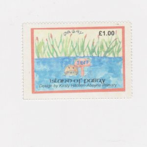 PABAY, British Local - 2003 - Otters, by Kirsty Hitchen - Perf MNH Single Stamp