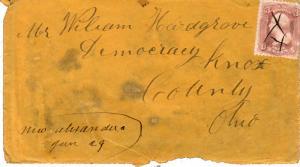 United States Ohio New Alexandria c1865 ms  1832-1918  3c Washington 1861 Iss...