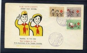 1962 Boy Girl Scout Turkey 50th anniversary FDC