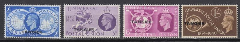 Great Britain-Tangier - 1949 UPU complete set - MH (2786)