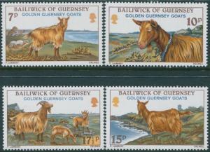 Guernsey 1980 SG217-220 Goats set MNH
