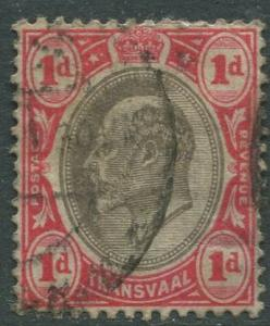 STAMP STATION PERTH Transvaal #253 Used KEVII 1902 Wmk 2 Crown and CA CV$0.25.