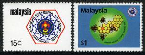Malesia 168-169, Mnh. Boy Scout Festa,Sarawak. Emblema, Api, 1978