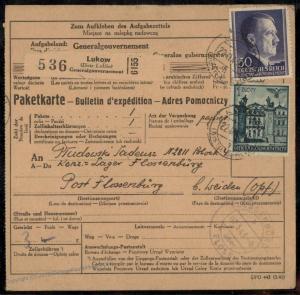 Germany GGov Poland Concentration Camp KL Floessenbuerg Package Card 79464