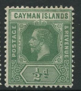Cayman Islands - Scott 33 - KGV Definitive Issue -1912 - MLH - Single 1/2d Stamp