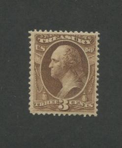 1873 United States Treasury Dept. Official Stamp #O74 VF Mint Lightly Hinged OG