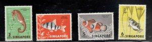 Singapore MNH** Fish stamps Scott 53-56 good start to a great set