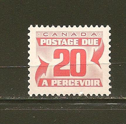 Canada J38 20 Cent Postage Due Single MNH