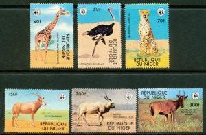Niger 1978 WWF African Animals set (6) Perforated mnh.vf #447/452