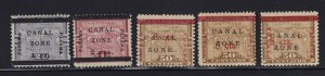 Canal Zone # 16 - 20 Set mint F-VF OG hinged nice color cv $ 145+  ! see pic !