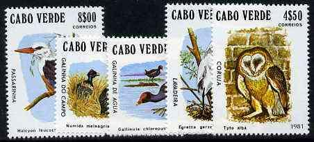 Cape Verde Islands 1981 Birds (Kingfisher, Owl etc) compl...