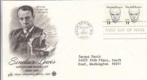 1985, Sinclair Lewis, Artcraft, FDC (D12949)