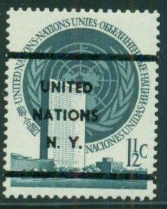 UNITED NATIONS #2v, 1 1/2¢ PRE-CANCEL, og, NH, VF, Gaines (1992) $200.00