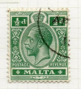 Malta 1914-22 Early Issue Fine Used 1/2d. 321505