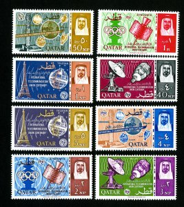 Qatar Stamps # 61-8 VF OG LH Scott Value $35.75