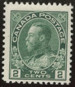 CANADA Scott 107 MH* 1922 wet print