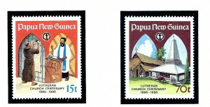 Papua New Guinea 649-50 MNH 1986 Lutheran Church Centennial