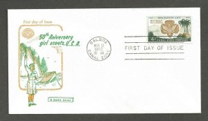 1962 Canal Zone 156 Girl Scouts FDC - Smith