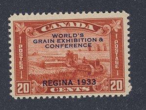 Canada Mint Stamp; #203-20c 1933 Regina Grain Conference Guide Value = $35.00