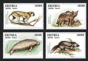 Eritrea Monkey Dugong Aardwolf Rat 4v Endangered Animals SG#323-326 CV£10+