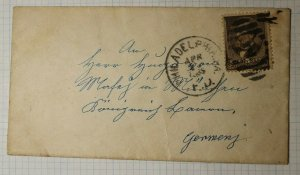 US Sc# 205 Used On Cover to Germany Munich 1885 Back Stamp Received Philadelphia