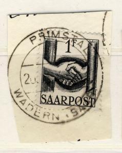 SAAR / SAARLAND 1948  (?)  PRIMSTAL / WADERN (SAAR)  date stamp on Mi.241