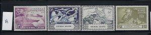 SIERRA LEONE- SCOTT #190-93 1949 UPU ISSUE- MINT HINGED