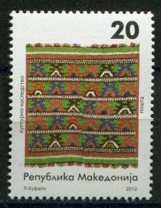 134 - MACEDONIA 2012 - Cultural Heritage - Kilims - MNH Set