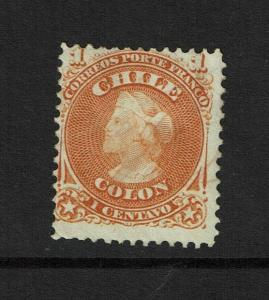 Chile SC# 15 Mint Hinged / Hinge Rem / Full Gum - S7339