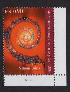 United Nations Geneva  #351  MNH 2000  year of Thanksgiving