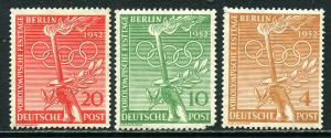 GR Lot 10490 Germany - BERLIN 1949-52 Michel 68-70 OGHR Vorolympische Festtage