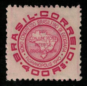 1940, The 9th Brazilian Congress of Geography, Brasil, 400 Rs (т-5987)