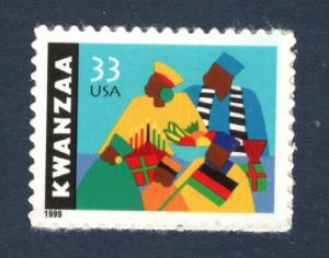3368 Kwanzaa US Single Mint/nh (Free Shipping)
