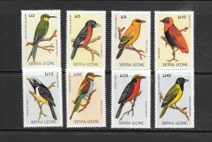 BIRDS - SIERRA LEONE #975-82  MNH