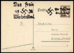 3rd Reich Germany Wuerbenthal Sudetenland 1938 Annexation Provisional Cove 72741