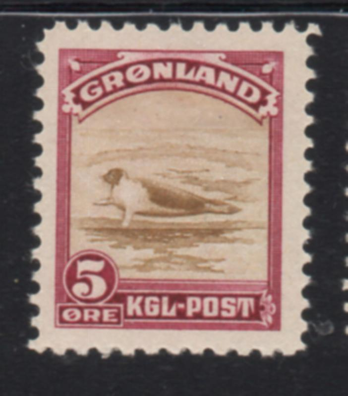 Greenland Sc 11 1945 5 ore seal stamp mint