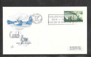 CANAL ZONE #165 Last Day of Operation SEP/30/1979 Cancel (my5574)
