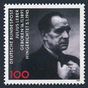 Germany 1694,MNH.Michel 1574. Julius Leber,Politician,1991.
