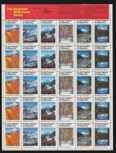 US 1975 American Wilderness Series Mint Cinderella Stamp Sheet Vol 3  # 2