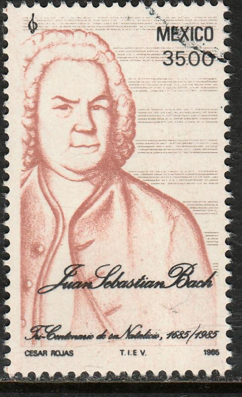 MEXICO 1377 300th Anniversary of the Birth J. Sebastian Bach Used F-VF (1036)