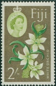 Fiji 1962 SG319 2/- yellow-green, green and copper White Orchid QEII MNH