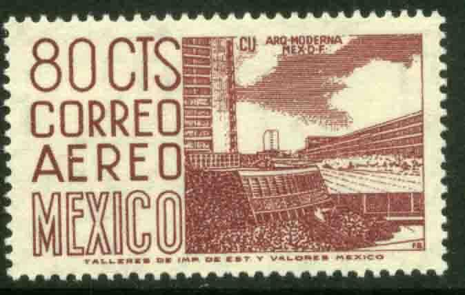 MEXICO C265 80cents 1950 Definitive 2nd Printing wmk 300 MNH