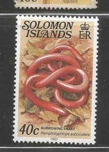 SOLOMON ISLANDS, 408A, MNH, SNAKE