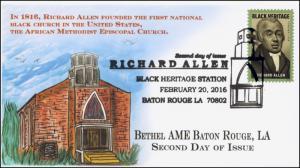 2016, Richard Allen, Baton Rouge LA, AME. Black Heritage, Pictorial, 16-065