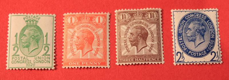 GREAT BRITAIN MINT SET SCOTT # 205 - 208 KING GEORGE V