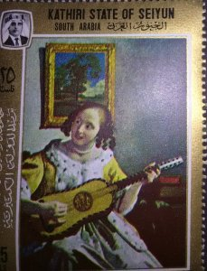 A girl with a guitar by Vermeer mnh