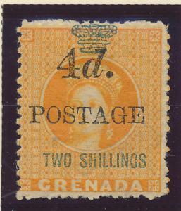 Grenada Stamp Scott #32, Mint Hinged, Some Gum, Toning - Free U.S. Shipping, ...