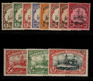 GERMAN EAST AFRICA, 1901 Kaisers yacht set, M MINT.