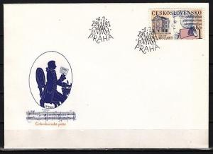 Czechoslovakia, Scott cat. 2818. Composer W. A. Mozart issue. First day cover. ^